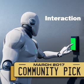 The different character of interaction with interactive objects. Weapons, doors, items, buttons... Included controller character - jumping, shooting, crouching, close combat...