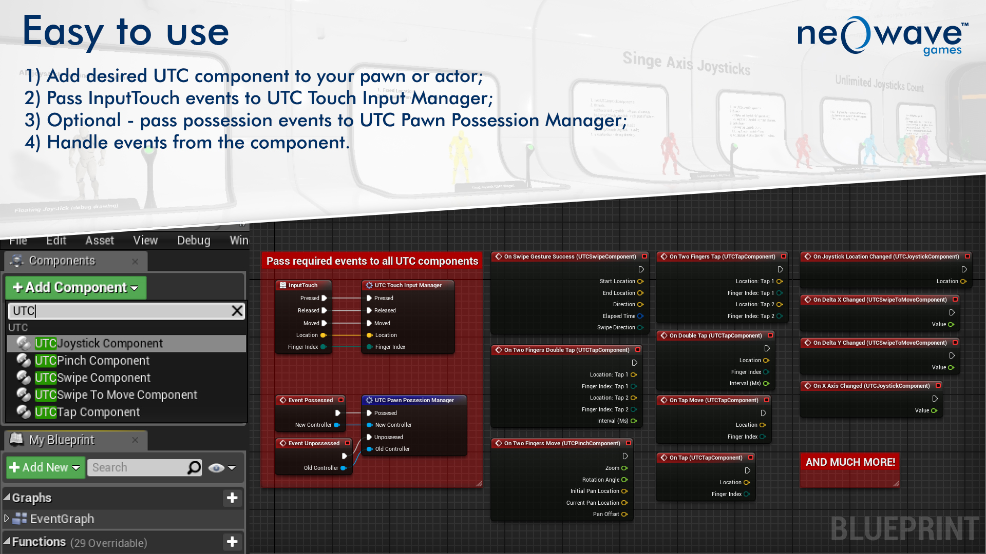 Ultimate Touch Components by Neo Wave Games in Blueprints