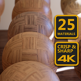 4K Materials: Wood Flooring contains 25 wood flooring materials with 4K textures.
