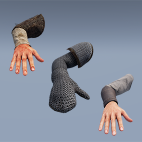 AAA quality FP Arms 5-pack: Rigged & animated, 4K textures, LODs, 56 assets in all!