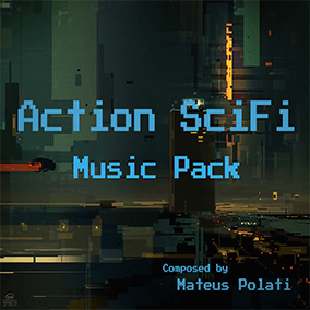 11 Seamlessly Loopable Action SciFi Music with unique themes with a modern chiptune inspired sound pallet.