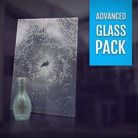 A pack of high quality and easily customizable glass / transparent materials.