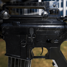 Animated FPS M4A1 Rifle Pack