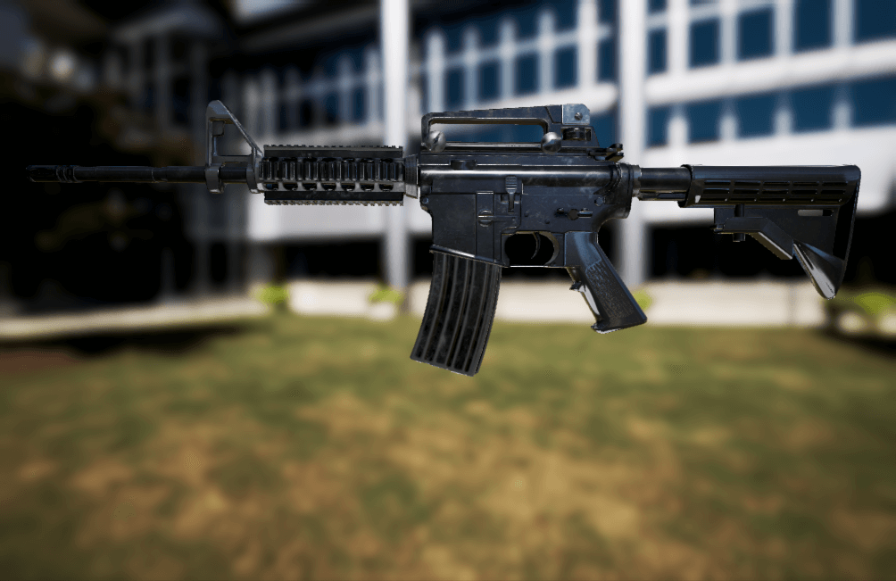 Animated M4A1 by CG Art Dimensions Studio in Weapons - UE4