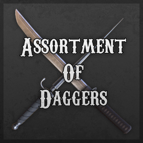 A realistic assortment of ten daggers from various cultures and era's.