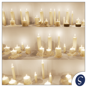 A collection of 14 candles to help you build mysterious atmosphere. Set contains BP with full control, candle smoke and fire particles.