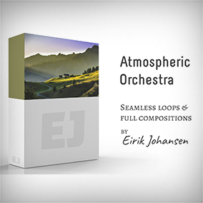"""""""Atmospheric Orchestra"""" contains five beautiful pieces, composed with game design in mind. Two independent pieces, and the """"Highlands Trilogy"""", where the compositions work well on their own, but also after each other, as one big piece."""