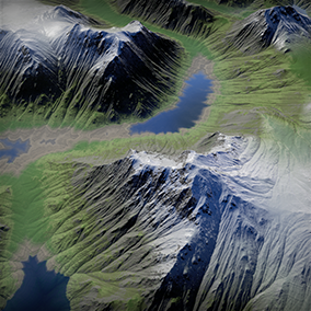 Procedural dynamic Automatic Landscape Material Set 1 Alpine edition