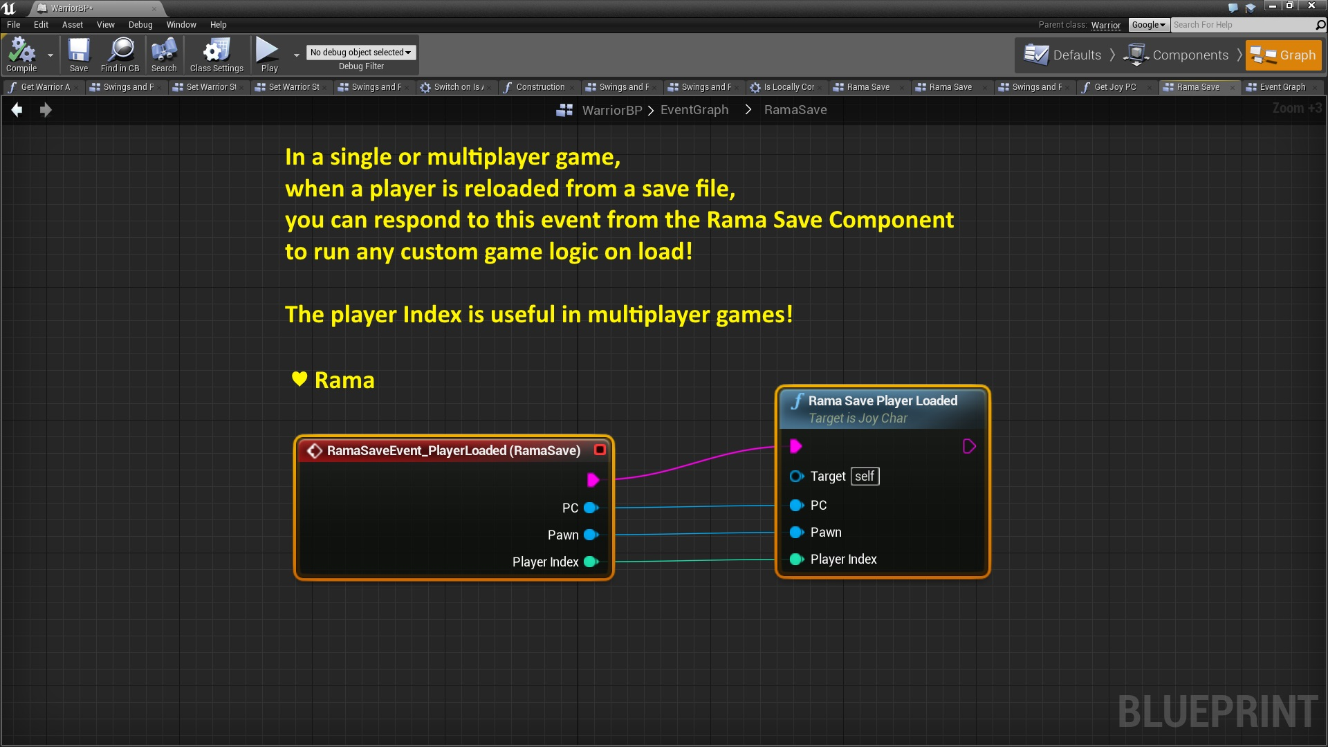 Rama Save System by Rama in Code Plugins - UE4 Marketplace