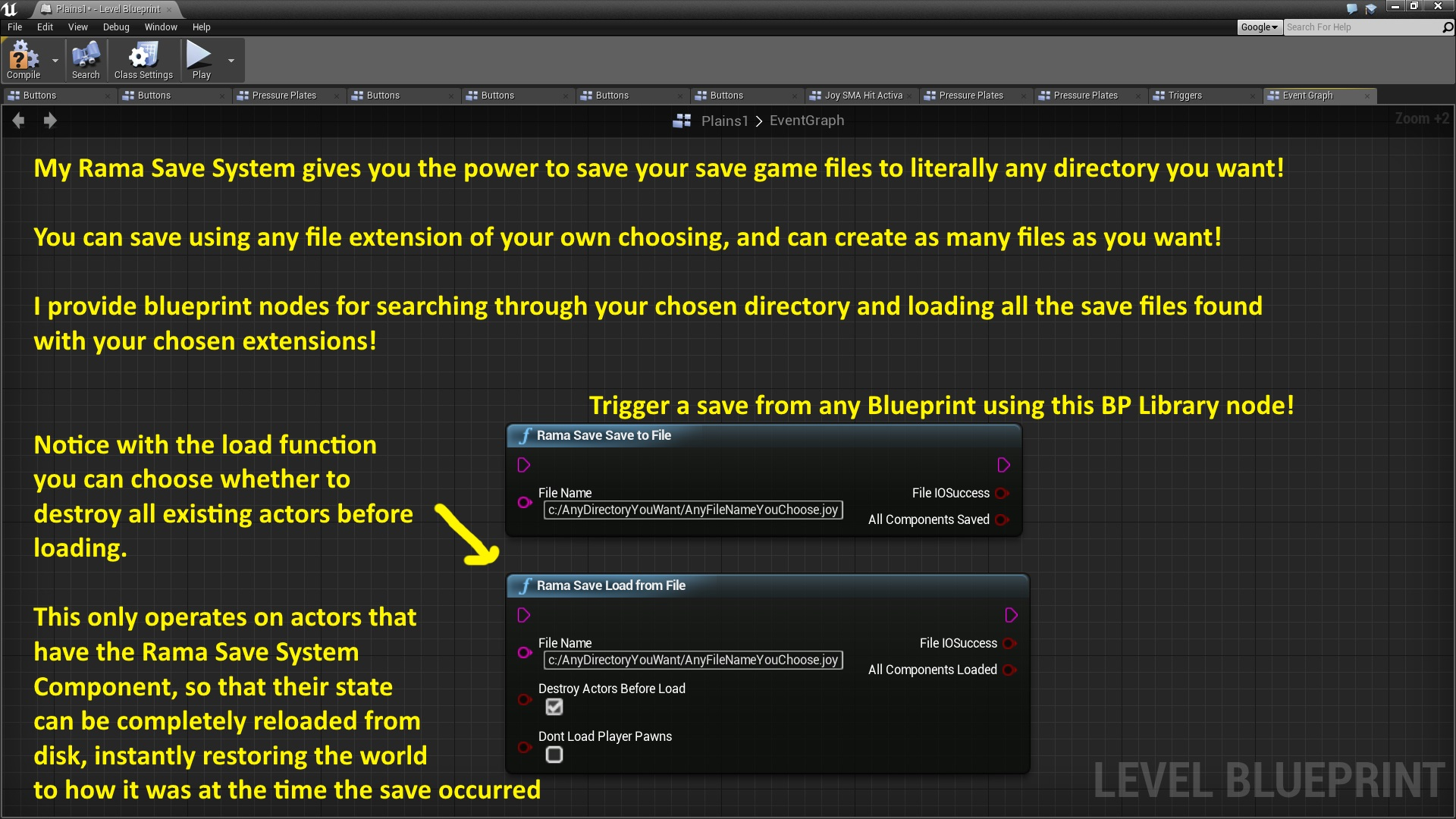 Rama save system by rama in code plugins ue4 marketplace malvernweather