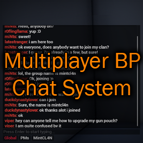 This chat system comes with full multiplayer support, easy-to-use commands, and much more!