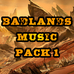 Badlands Music Pack 1 contains over 900mb of music perfect for any post apocalyptic wasteland.