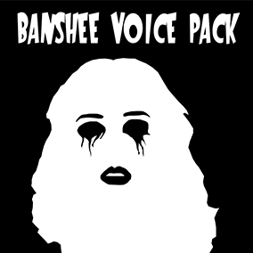 Ghost woman voice over phrases for RPG, horror or action games.