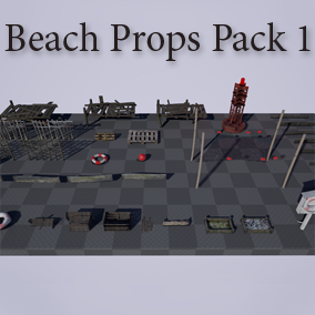 Beach Props Pack 1 consists of 35 unique high quality meshes of weather worn beach items. Suitable for general beach use and fishing village type scenes.