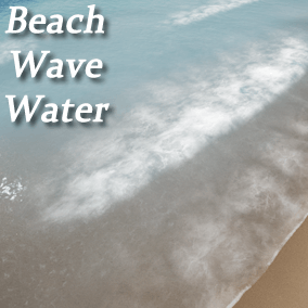 Water shader with crashing waves and underwater caustics