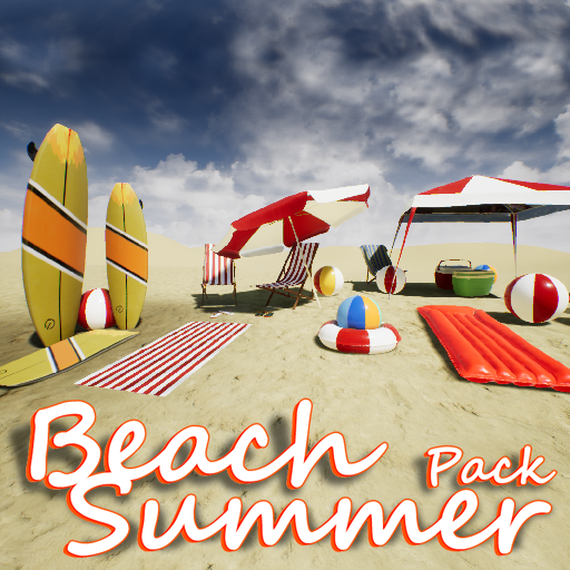 Beach Summer Pack is a collection consist of 21 high quality beach props ready to use at summer, in your beach or pool scenes.