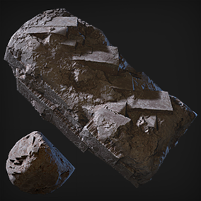 Beautifully rendered rocks and cliff sides to greatly enhance your project