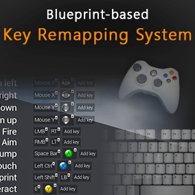 Blueprint-based key remapping system, that allows you to change input controls.