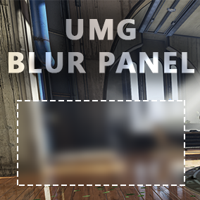 UMG Blur Panel gives a developer a way to quickly setup panels, that will blur background. Just drag BlurPanel into your widget and it will work without any extra settings.