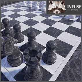 Infuse Studio Board Games Vol 1 is the first kit in a collection of quality board game assets. It includes Chess(King, Queen, Rook, Bishop, Knight, Pawn) and Checkers. Usable as props in a scene or for game-play. All materials are based on a PBR workflow.