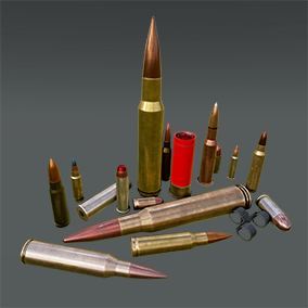 A fully functional pack of ammunition with 17 different calibers.