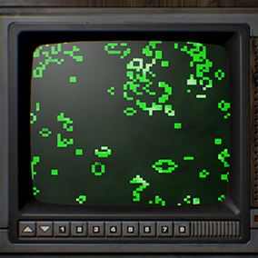 Conway's Game of Life in a material