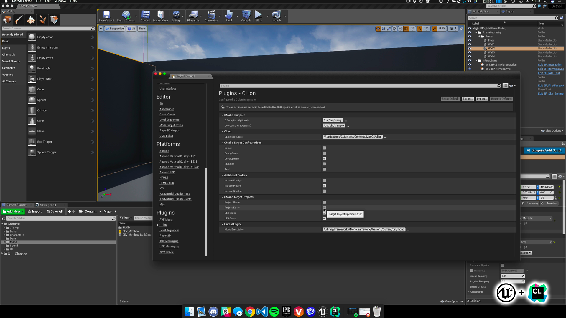 CLion Integration by dotBunny in Code Plugins - UE4 Marketplace