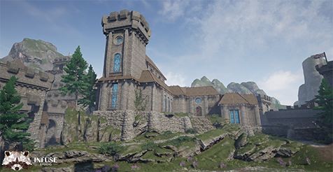castle fortress by infuse studio in environments ue4 marketplace