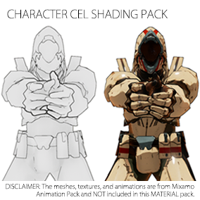 Cartoon Rendering Pack contains customizable cel shading surface materials and a post-processing line drawing material carefully designed to achieve quality cartoon rendering of characters in UE4.