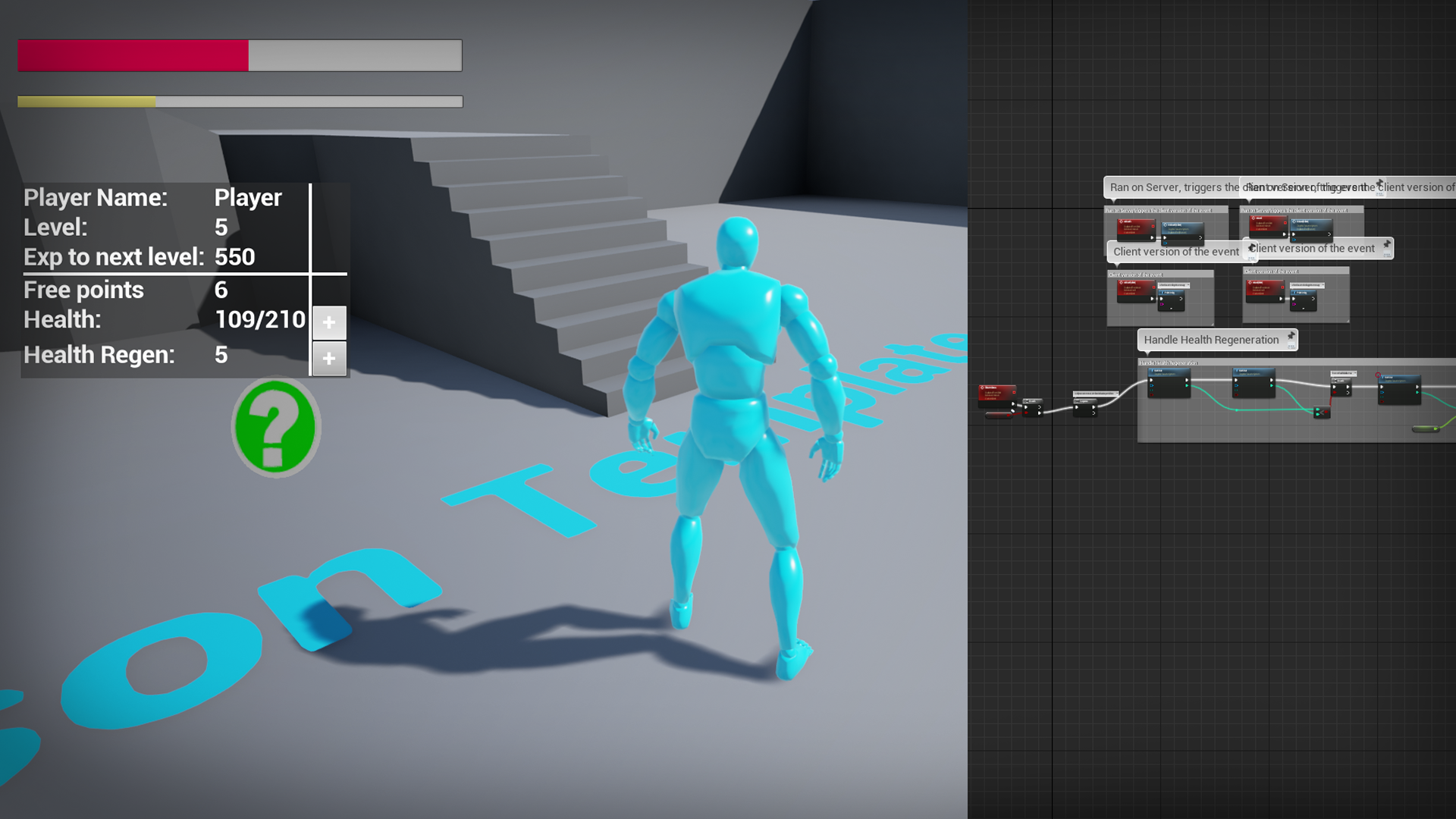 Character Attribute System by Feral Computing in Blueprints
