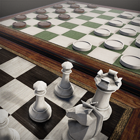Chess & Checkers game sets