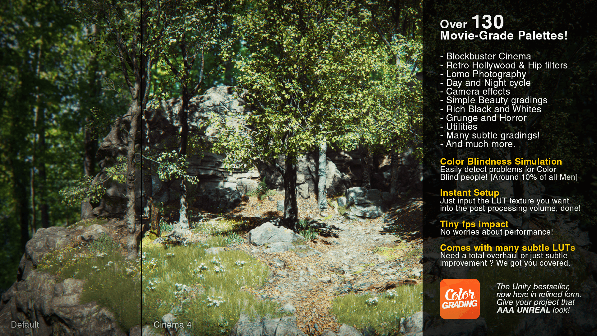 Cinema Color Grading Pack by Shrike in Visual Effects - UE4 Marketplace