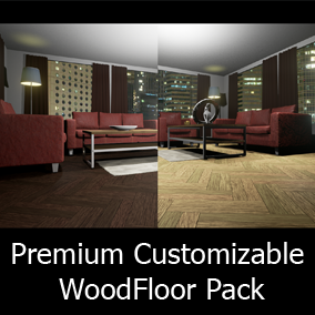 This pack contains eight tile layout templates that allow the user to effortlessly create great looking wood floors with their own textures in the shortest amount of time possible. Customization options allow the user to get the most out of this package.