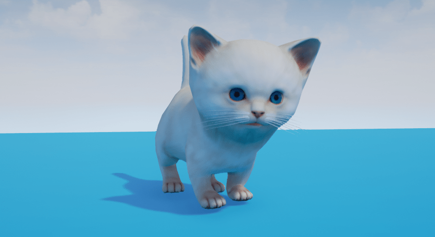 cute kitten by leshiy3d in characters ue4 marketplace