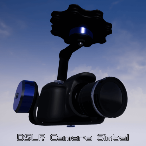This DSLR camera gimbal is perfect for stabilizing video on drones or vehicles. The blueprint can easily be used by adding it to any pawn or actor you want.