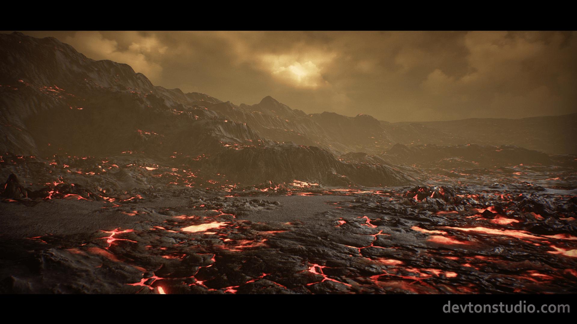 planet venus landscape by devton studio in environments ue4