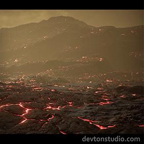Advanced Venus landscape concept.