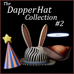 A collection of Hats and headgear with a large amount of customization