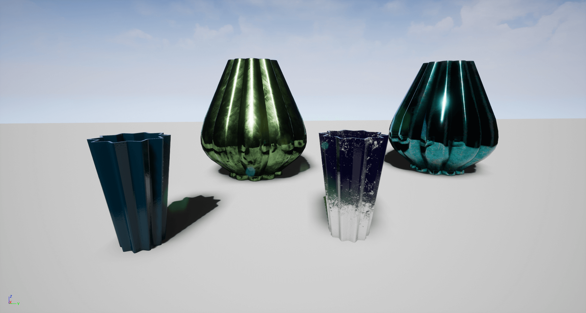 Decorative Flower Vase Set by 3x3Pixel in Props UE4 Marketplace