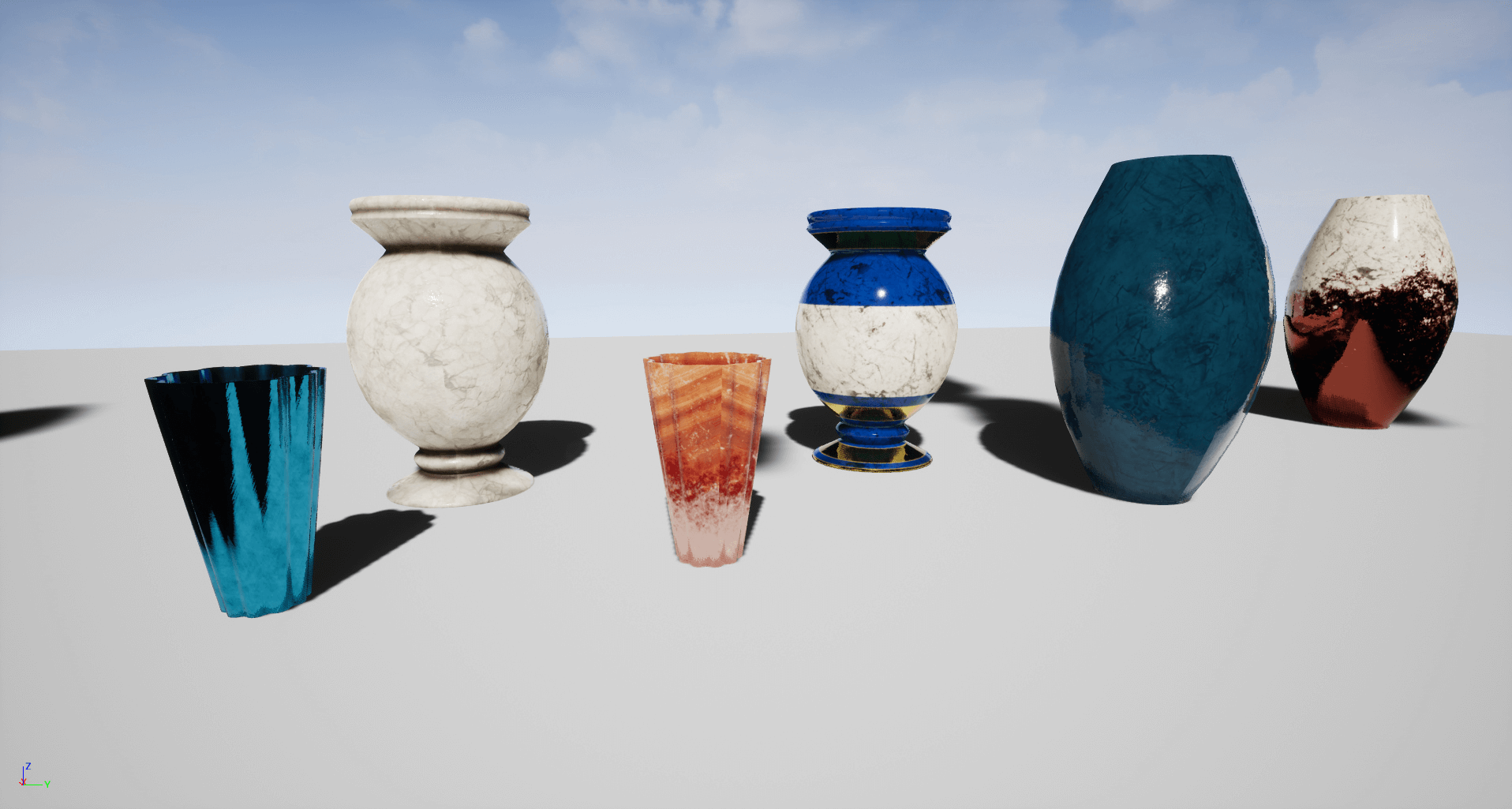Decorative flower vase set by 3x3pixel in props ue4 marketplace share reviewsmspy