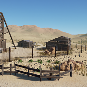 """Desert props"" is a perfect environment pack for creation of different kind of desert environments. The content of this pack allows you to create many different game genres and realization of many of your ideas."