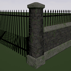 Construction scripts for creating graveyard walls and fences. Options for changing fence styles, pillar styles, wall types, and materials for fence work, stone or brick walls and concrete for wall caps and bases. Pillars are automatically added or removed