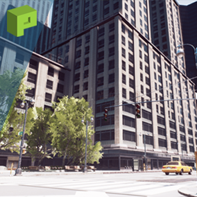 DownTown is a large scaled environment based on New York City. Equipped with skyscrapers and the classic yellow cab, this pack is a great one stop shop for your large city projects.