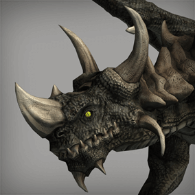 This powerful dragon will surely finds its place in your heroic fantasy project.
