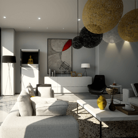 The name of this architectural visualization project called Dream Apartments.