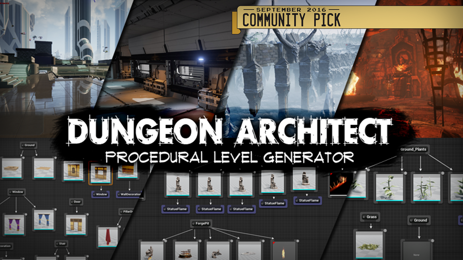 Dungeon Architect by Code Respawn in Code Plugins - UE4