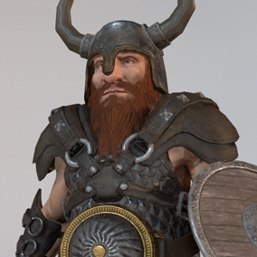 This Dwarf pack will allow you to create a good amount of variations for your heroic fantasy project.