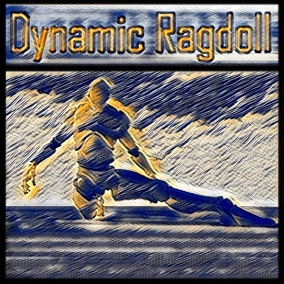 Dynamic Ragdoll component turns character into a walking and animated ragdoll characters that can push other ones just with physics, it mixes character movement with simulated physics which creates this effect.