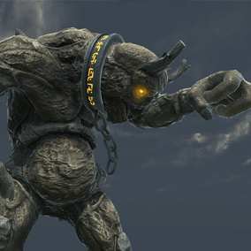This gigantic Titan will smash whatever trying to block its way.