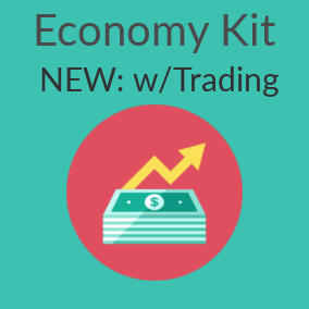Economy kit features the tools you need for your economy in your game and project, now with trading!